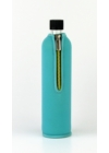 DORAS Üvegkulacs (üvegpalack) türkizkék színű neoprén huzattal - 500 ml