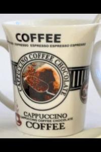 Cappuccino kerámia bögre kanállal