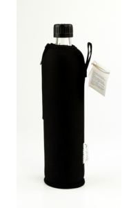 DORAS Üvegkulacs (üvegpalack) fekete színű neoprén huzattal - 500 ml