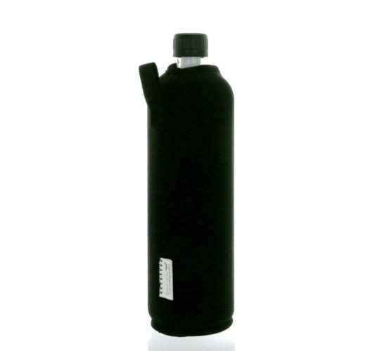 DORAS Üvegkulacs (üvegpalack) fekete színű neoprén huzattal - 700 ml