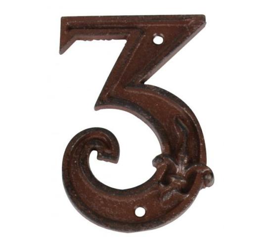 3-as öntöttvas házszám