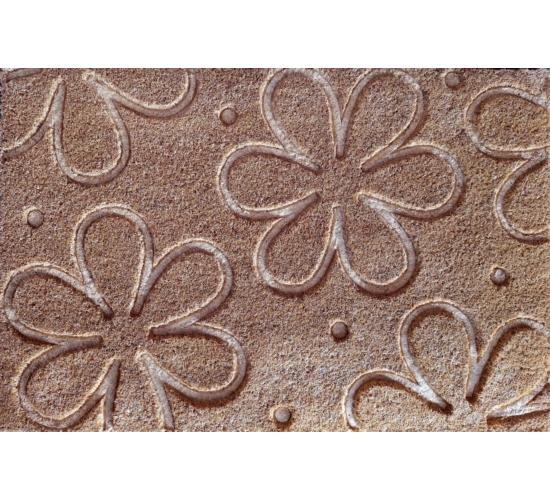 Virágmintás kókuszrost lábtörlő 60x40cm
